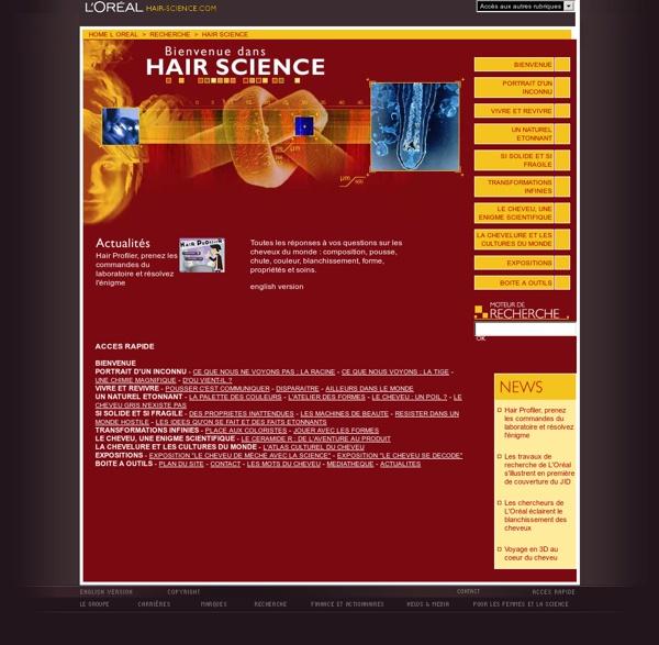 HAIR SCIENCE - L'UNIVERS DU CHEVEU