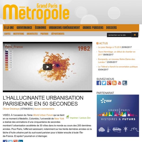 L'hallucinante urbanisation parisienne en 50 secondes