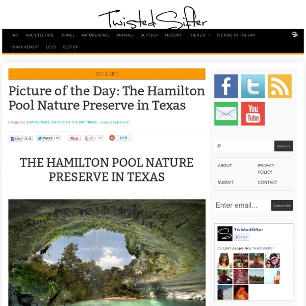 The Hamilton Pool Nature Preserve in Texas