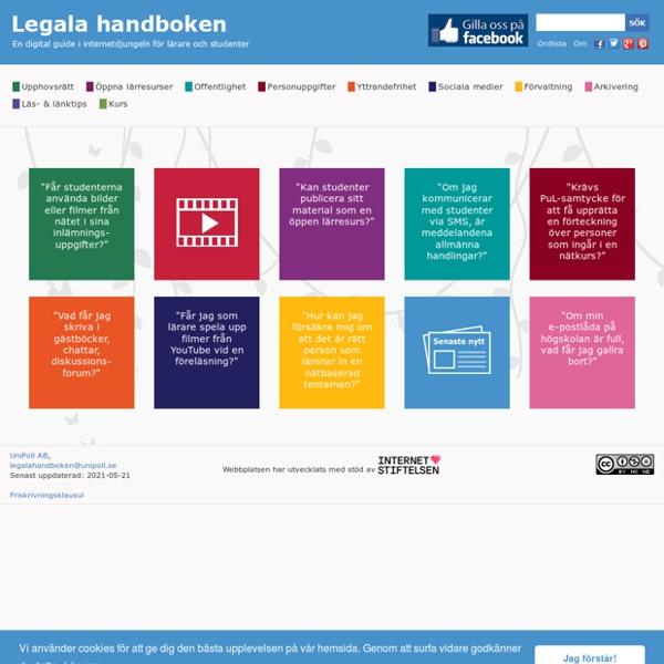 Legala handboken - En digital guide i internetdjungeln för lärare och studenter