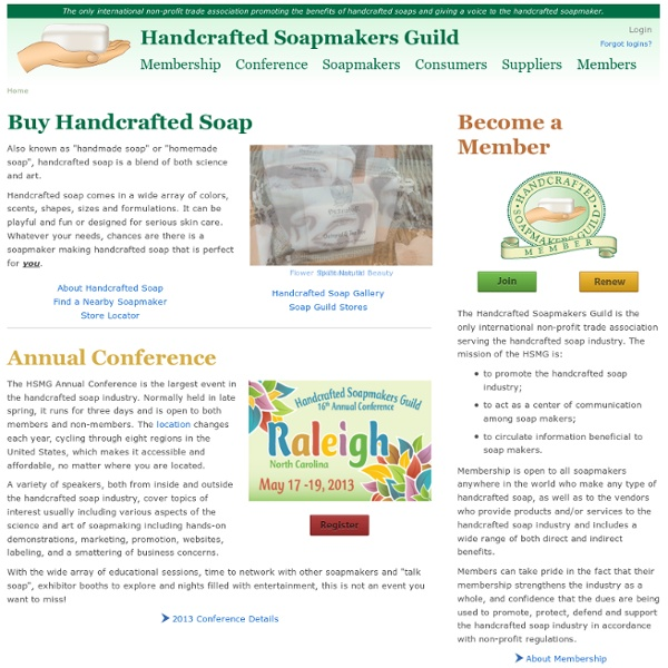 Home-Handcrafted Soapmakers Guild, Inc.