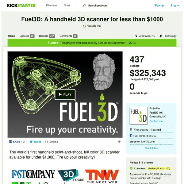 Fuel3D: A handheld 3D scanner for less than $1000 by Fuel3D Inc.