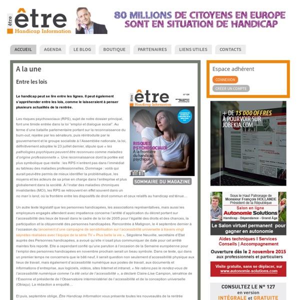 Êtrehandicap- magazine dédié emploi et handicap