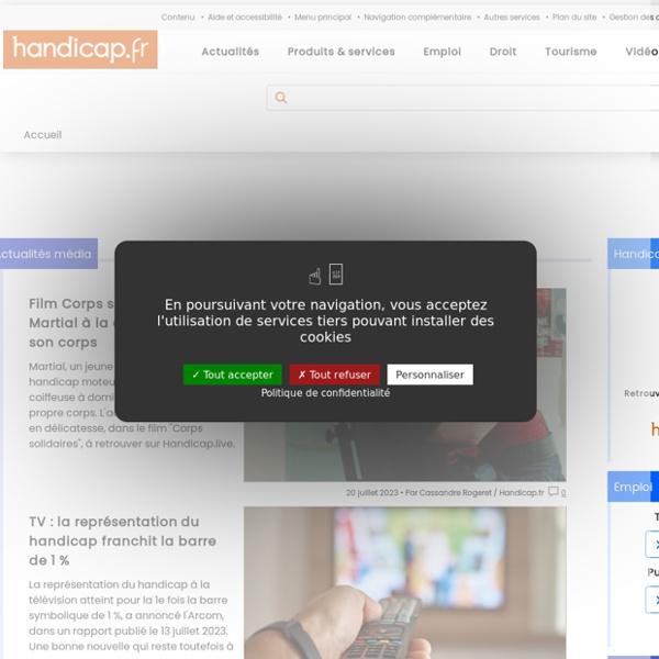 Handicap.fr : l'information et les services, du handicap à l'autonomie