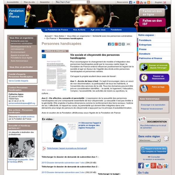 Personnes handicapées – droits, intégration et aides : la Fondation de France