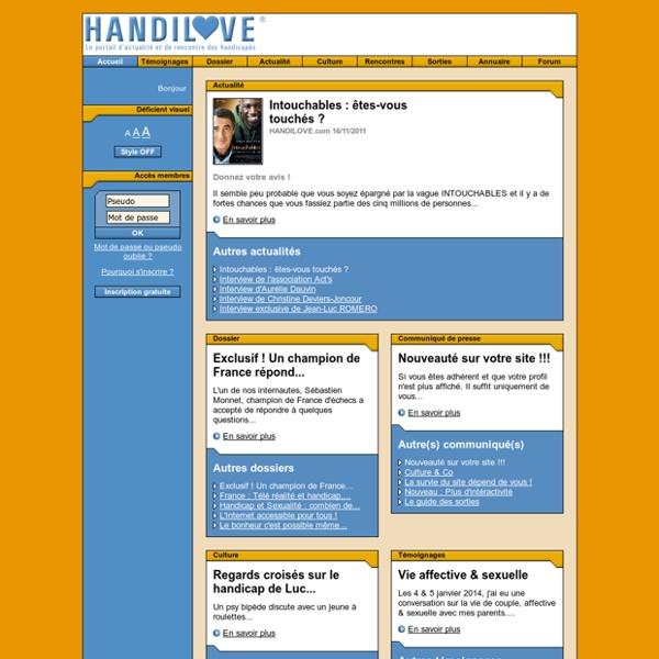 HANDILOVE.com : Portail handi sexe, sexualité, relations, handicapé rencontre