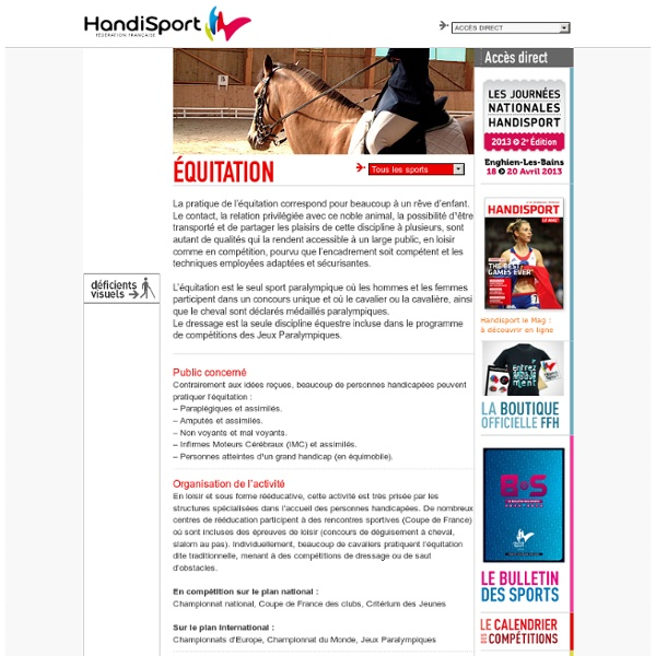 Equitation handisport
