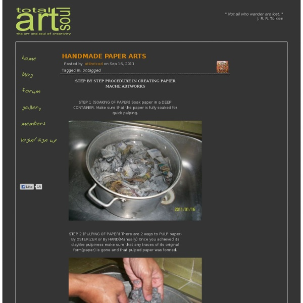 HANDMADE PAPER ARTS