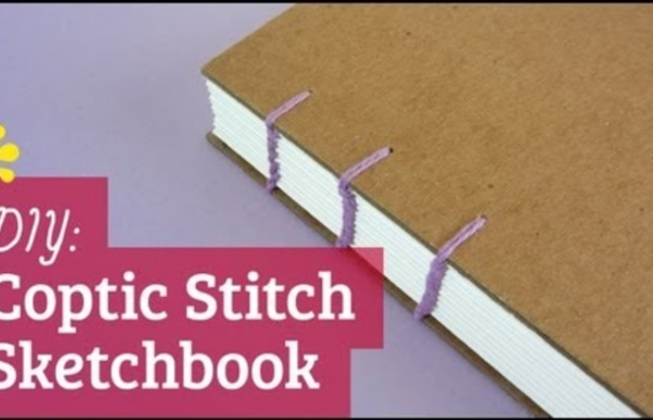 How to Make Your Own Handmade Sketchbook : Coptic Stitch