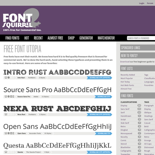 Handpicked free fonts for graphic designers with commercial-use licenses.