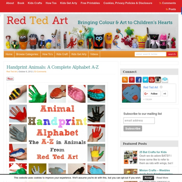 Handprint Animal Alphabet A-Z