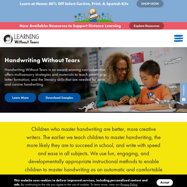 A Complete Handwriting Curriculum for All Children