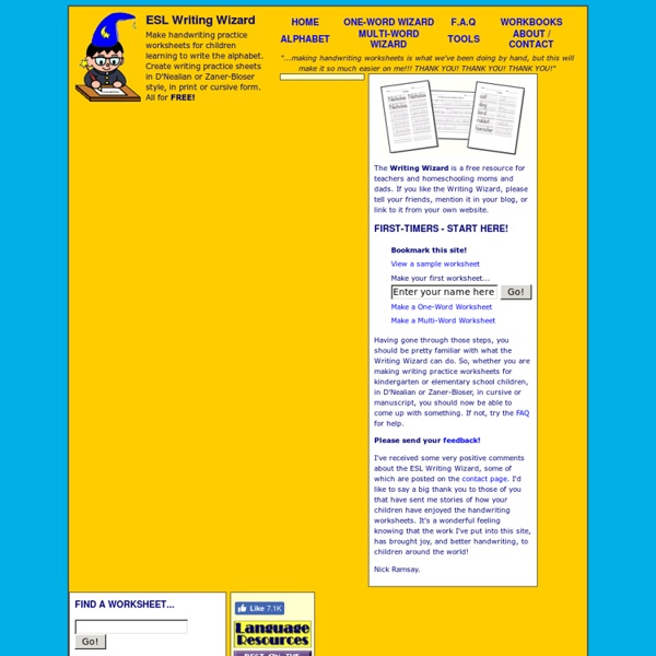 Make Handwriting Worksheets ESL Writing Wizard – Make Handwriting Worksheets