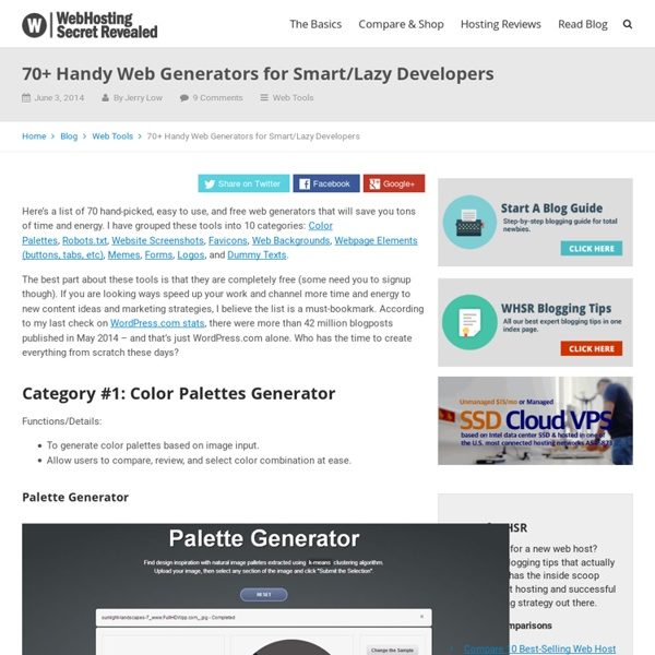 30 Must See Web Generator for Lazy Webmasters
