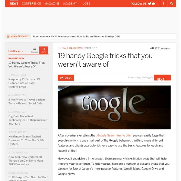 19 handy Google tricks that you weren't aware of