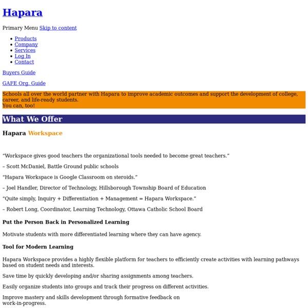 Hapara ■ Making Learning Visible