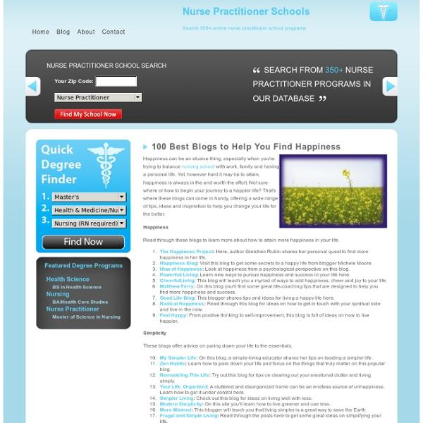 100 Best Blogs to Help You Find Happiness Nurse Practitioner Schools