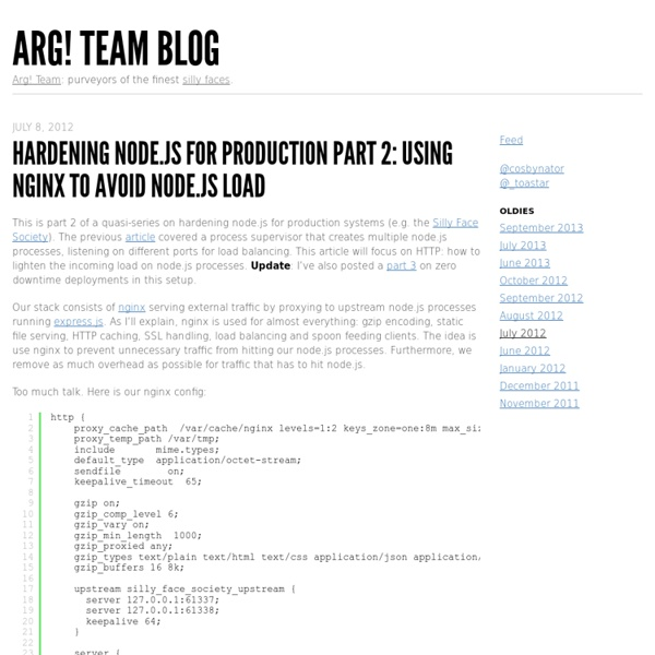 Hardening node.js for production part 2: using nginx to avoid node.js load