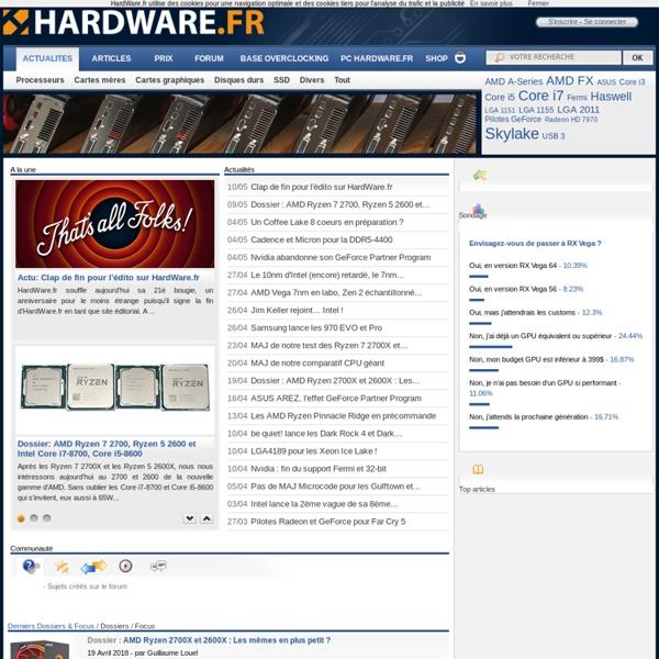 HardWare.fr - Le Guide du HardWare & de l'Optimisation PC