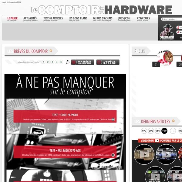 L'endroit oukonli des trucs sur le hardware informatique - CDH homepage
