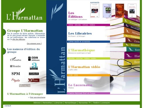 Groupe l'Harmattan - Livres, revues, articles, ebook, vidéo, VOD, librairies, théâtre