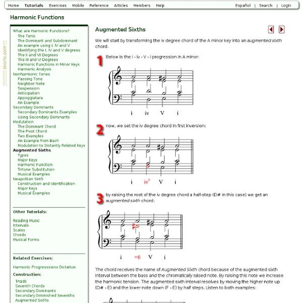 Harmonic Functions - Augmented Sixths