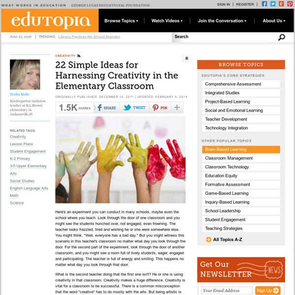 22 Simple Ideas for Harnessing Creativity in the Elementary Classroom