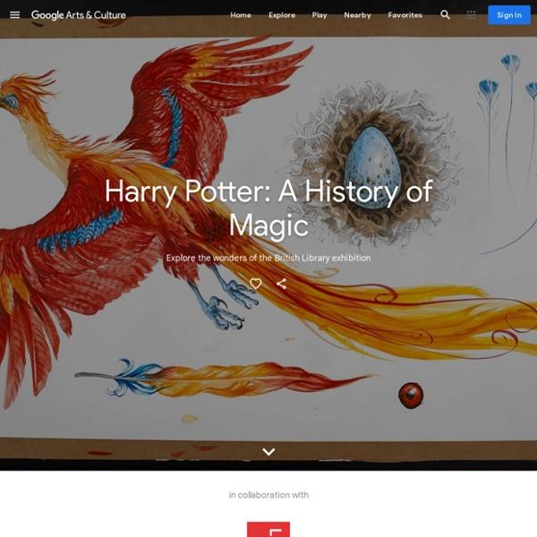 Harry Potter: Exposition virtuelle de la British Library