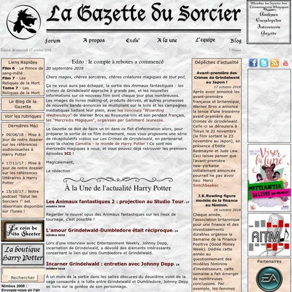 La Gazette du Sorcier - Harry Potter du point de vue sorcier