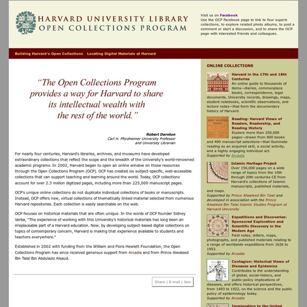 Harvard University Library: Open Collections Program