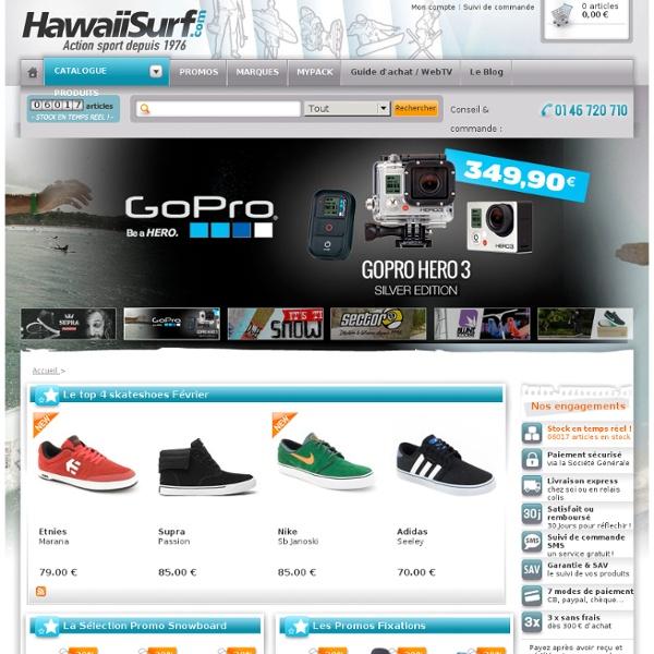 HawaiiSurf.com: Shop Roller, Skateboard, Snowboard & Surf