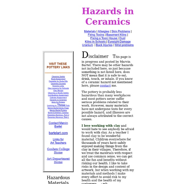 Hazards in Ceramic