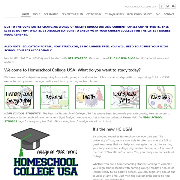 Homeschool College USA