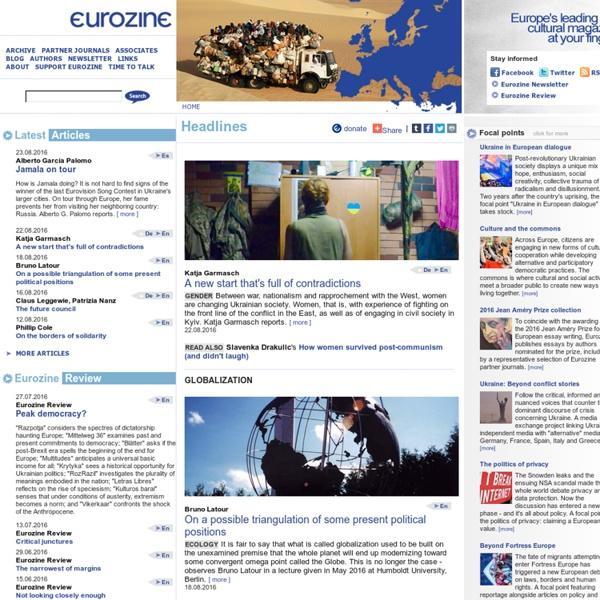 Eurozine - Headlines