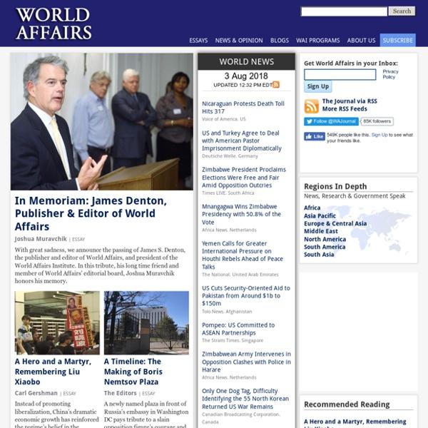 World News Headlines, Essays and Opinion