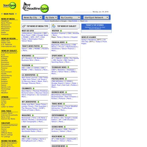 HeadlineSpot.com: US Newspapers Online News Headlines, World News, Current Events.