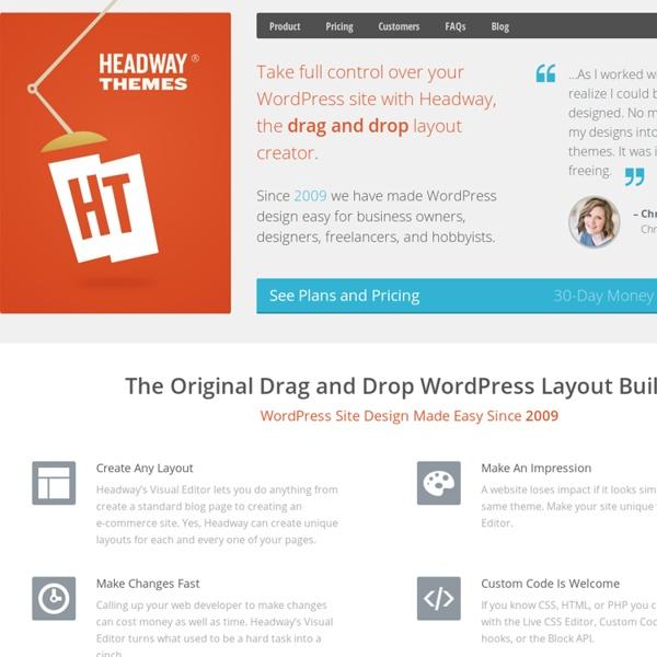 Headway Drag and Drop WordPress Website Builder
