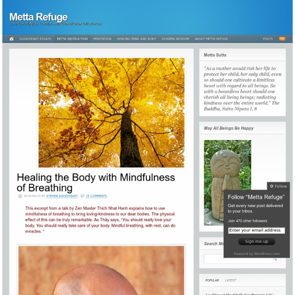 Healing the Body with Mindfulness of Breathing