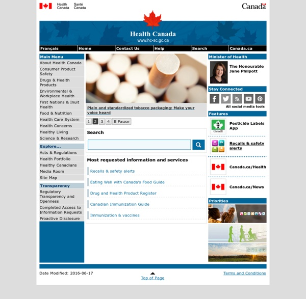 Health Canada - Home Page