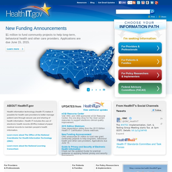 The official site for Health IT information