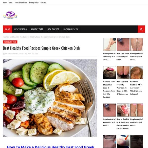 Best Healthy Food Recipes Simple Greek Chicken Dish