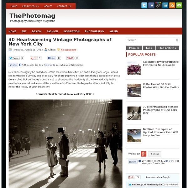30 Heartwarming Vintage Photographs of New York City ~ ThePhotomag