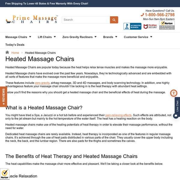 Heated Massage Chairs – Prime Massage Chairs