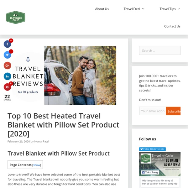 Top 10 Best Heated Travel Blanket with Pillow Set Product [2020]