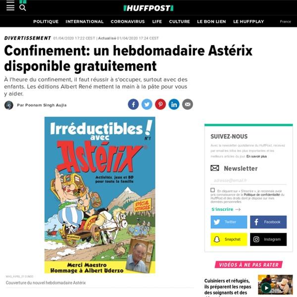 Confinement: un hebdomadaire Astérix disponible gratuitement