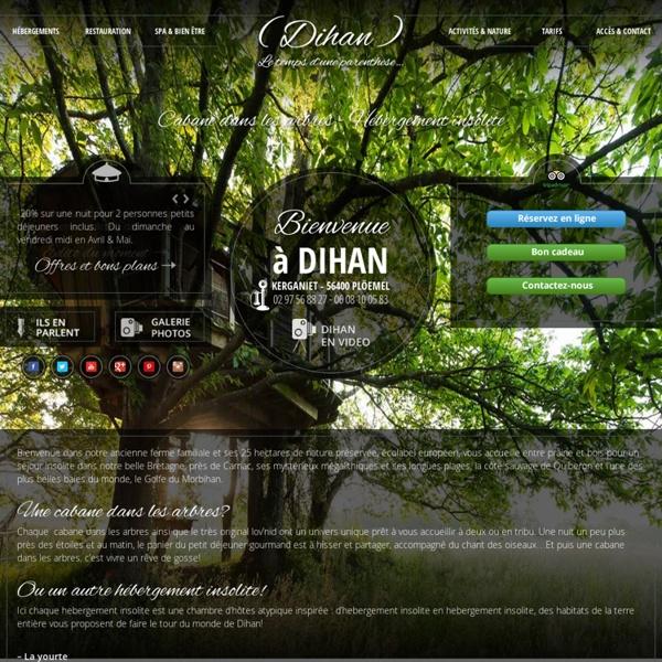 Cabanes dans les arbres et hébergements insolites en Bretagne - Dihan Evasion