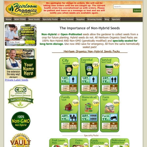 Non-Hybrid Vegetable Fruit Grain Herb Seeds