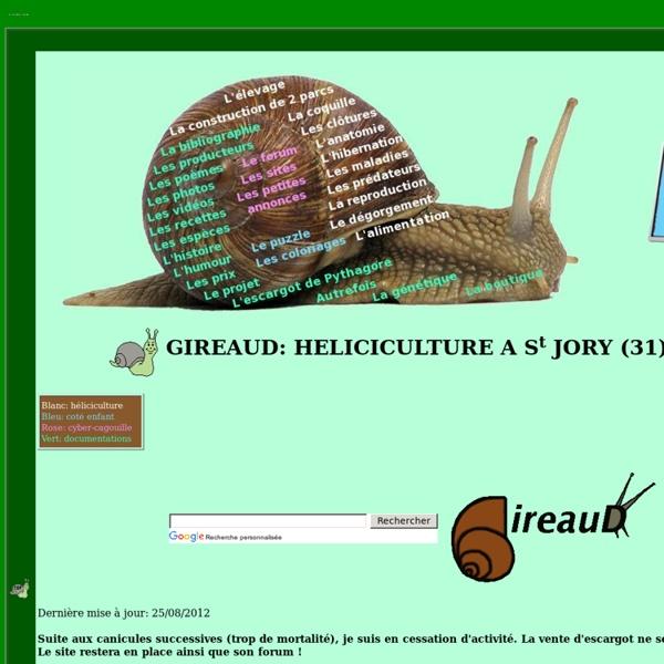 Heliciculture (élevage des escargots)