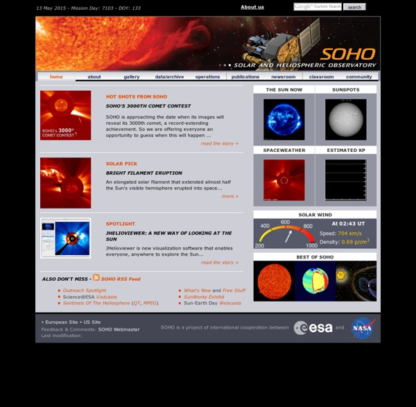 Solar and Heliospheric Observatory Homepage