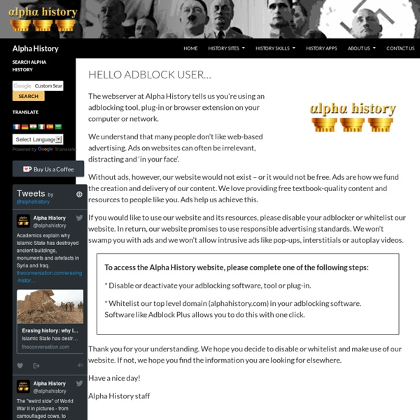 Alpha History: Because the past matters